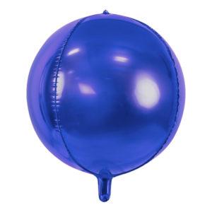 Folieballong Boll Mörklila