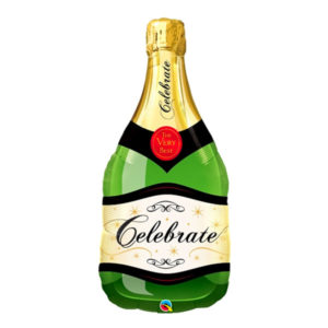 Folieballong Champagneflaska Celebrate