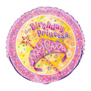 Folieballong Födelsedag Prinsessa