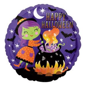 Folieballong Häxa Happy Halloween - 1-pack