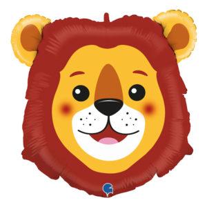 Folieballong Lejon Huvud - 1-pack