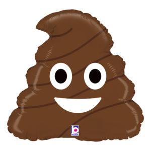 Folieballong Poop Emoji