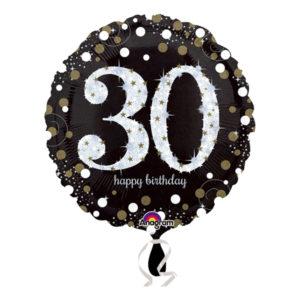 Folieballong Sparkling Birthday 30 - Siffra 30