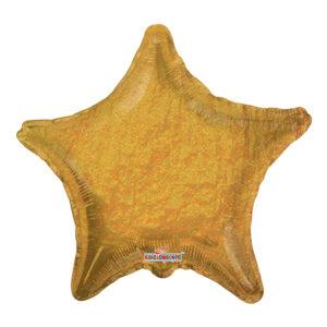 Folieballong Stjärna Guld Glitter