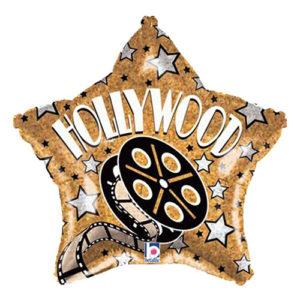 Folieballong Stjärna Hollywood Guld