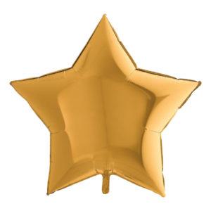 Folieballong Stjärna Stor Guld