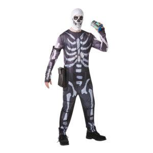 Fortnite Skull Trooper Maskeraddräkt - Medium