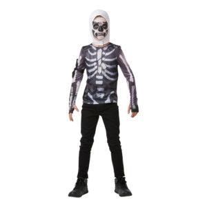 Fortnite Skull Trooper Teen Budget Maskeraddräkt - Large
