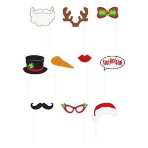 Fotoprops Jul Ho Ho Ho - 10-pack