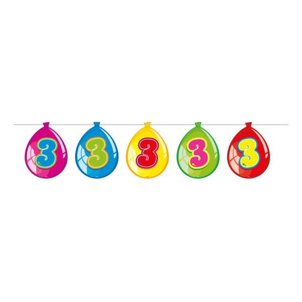 Girlang Ballonger 3-årskalas