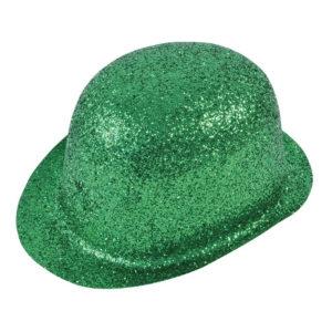 Glittrande Bowlerhatt Grön - One size
