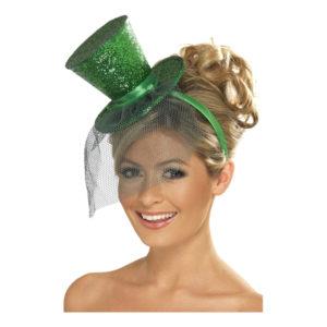 Glittrig Minihatt - Grön