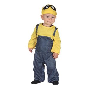 Gul Gruvarbetare Bebis Maskeraddräkt - 12-24 mån