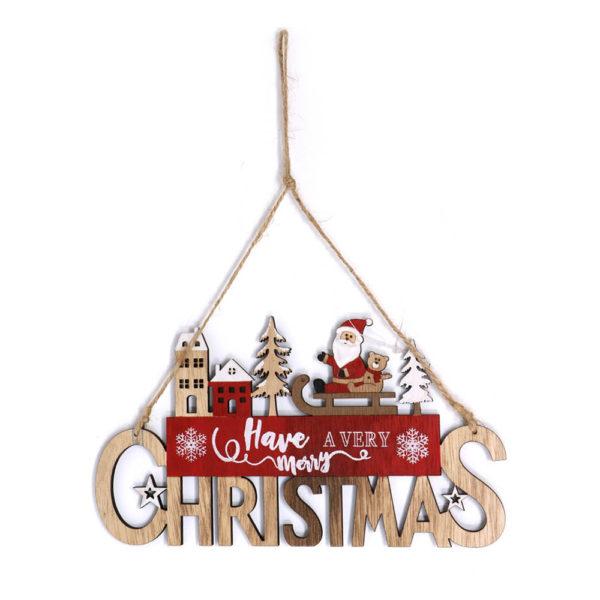 Hängande Juldekoration Tomte på Släde