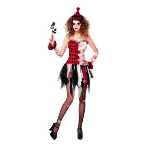 Harlequin Halloween Maskeraddräkt - Medium