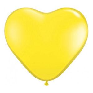 Hjärtballonger Gula - 25-pack