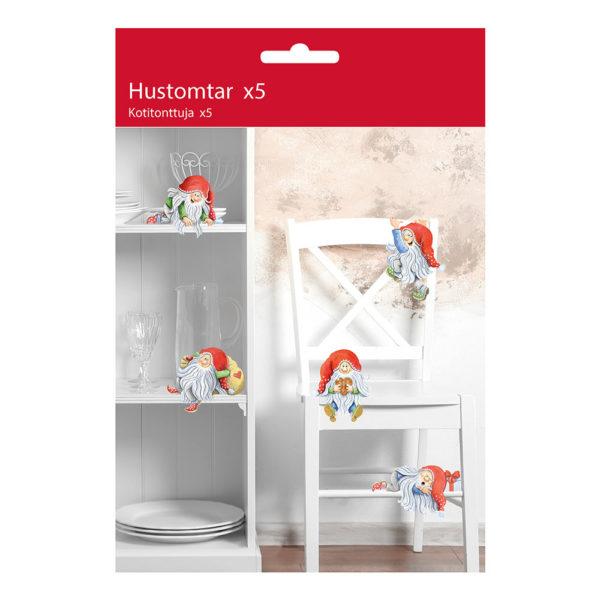 Hustomtar Dekoration i Papp - 5-pack