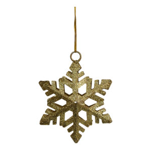 Julhänge Snöflinga Guld/Glitter - 1-pack