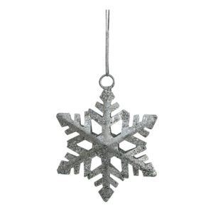 Julhänge Snöflinga Silver/Glitter - 1-pack