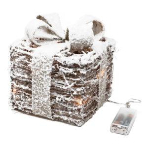 Julklapp med Snö LED - Stor