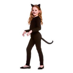Katt Svart Barn Maskeraddräkt - X-Large