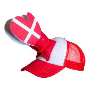 Klappkeps Danmark - One size