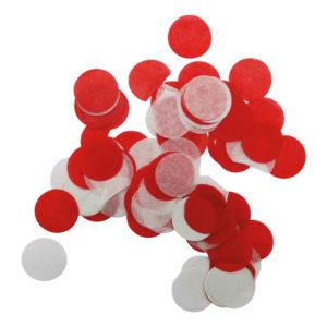 Konfetti Röd/Vit Prickar - 15 gram