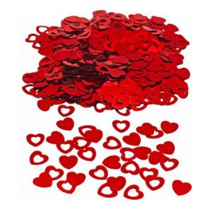 Konfetti Röda Hjärtan