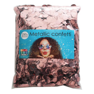 Konfetti Roséguld Metallic Runda - 250 gram