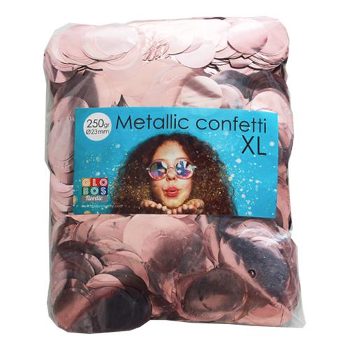 Konfetti Stora Roséguld Metallic - 250 gram