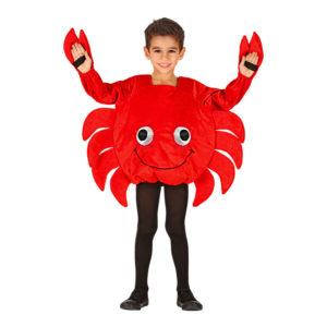 Krabba Röd Barn Maskeraddräkt - Medium
