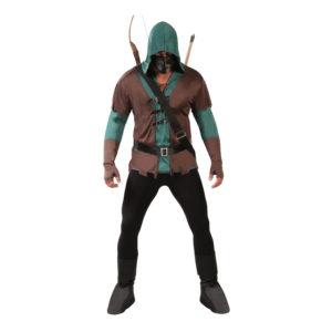 Krigare med Mask Maskeraddräkt - Large