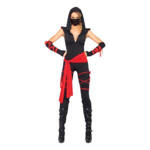 Kvinnlig Ninja Deluxe Maskeraddräkt - Medium