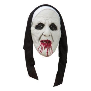 Läskig Nunna Mask - One size