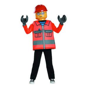 LEGO Byggarbetare Barn Maskeraddräkt - Medium