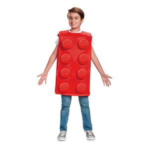 LEGO Kloss Röd Barn Maskeraddräkt - Medium