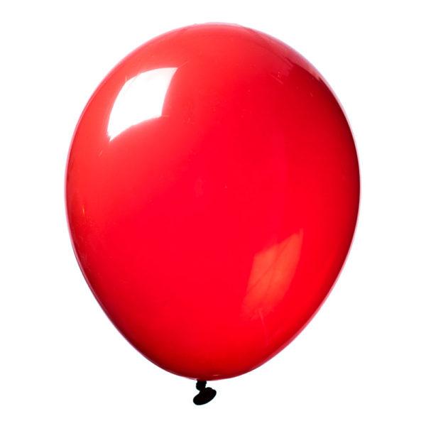 Latexballong Crystal Röd - 50-pack