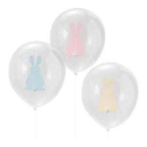 Latexballonger med Påskharar Pastell - 9-pack