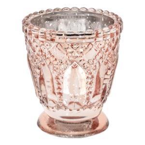 Ljushållare i Glas Roséguld Stor - 1-pack