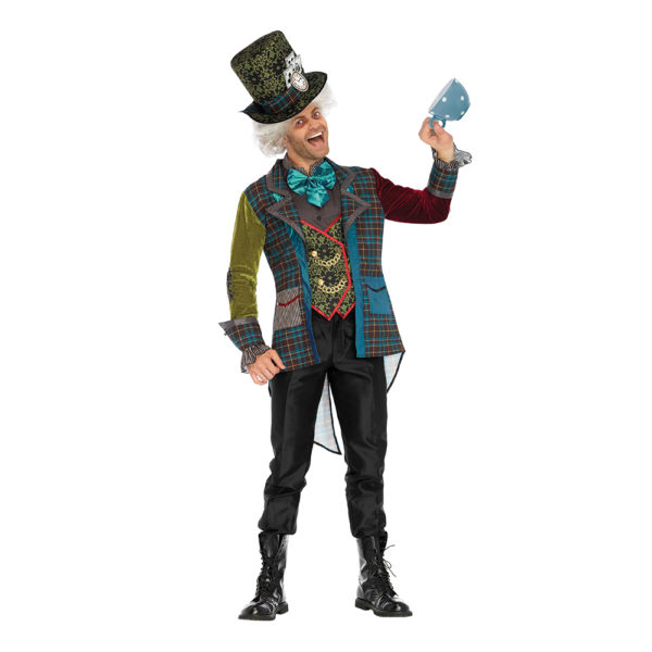 Mad Hatter Deluxe Maskeraddräkt - X-Large
