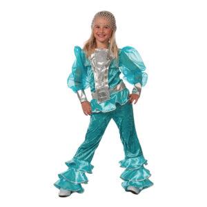 Mamma Mia Blå Barn Maskeraddräkt - 11-12 år