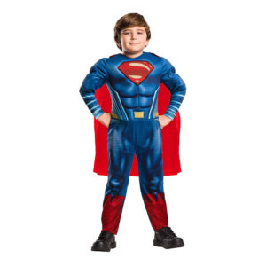 Man of Steel Superman Deluxe Barn Maskeraddräkt - Small