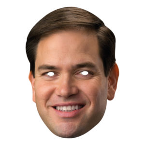 Marco Rubio Pappmask