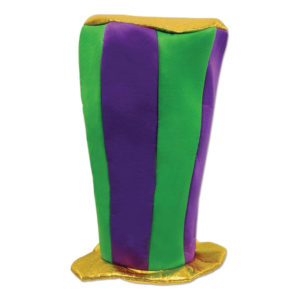 Mardi Gras Extra Hög Hatt - One size