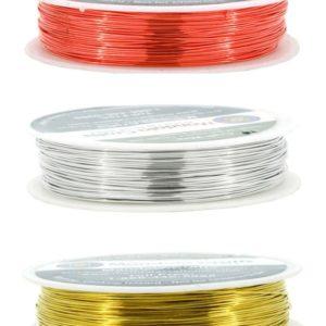 Metallictråd/Ståltråd - Röd