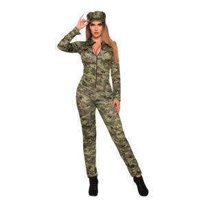 Militärtjej Jumpsuit Maskeraddräkt - Medium/Large