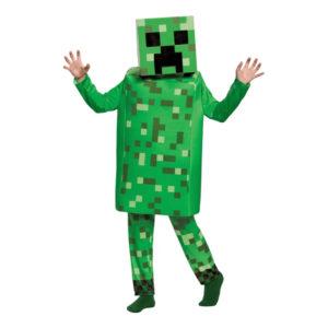 Minecraft Creeper Deluxe Barn Maskeraddräkt - Small