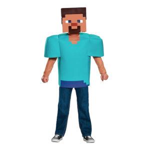 Minecraft Steve Barn Maskeraddräkt - Large
