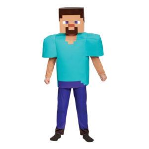 Minecraft Steve Deluxe Barn Maskeraddräkt - Large