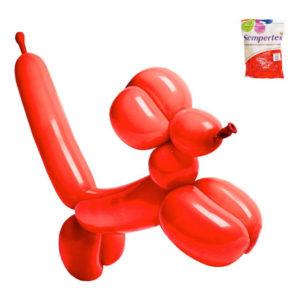 Modellballonger Röd - 100-pack